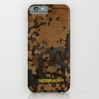 Modern Woodgrain Camouflage / Flecktarn Print iPhone 6 Slim Case