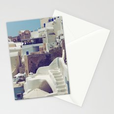 Streets of Santorini III Stationery Cards