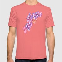 Orchid Splash Mens Fitted Tee Pomegranate SMALL