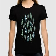 Feathers Womens Fitted Tee Black SMALL