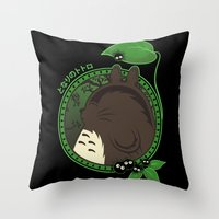 Forest Spirit Neighbor Throw Pillow