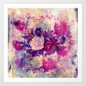 bouquet de roses Art Print
