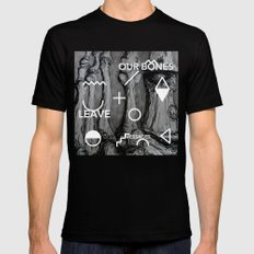 Our bones leave messages Black SMALL Mens Fitted Tee