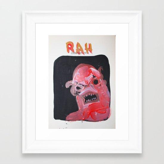 rah Framed Art Print