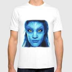 Angelina Jolie Avatar Mens Fitted Tee SMALL White