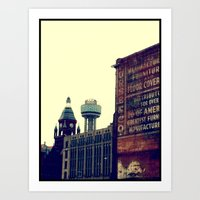 DALLAS GHOSTS Art Print