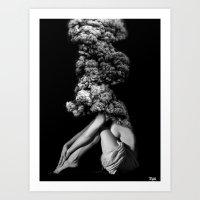Burning Art Print