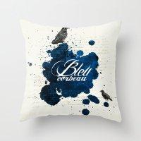Bleu Corbeau Throw Pillow