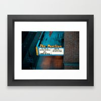 Night at the Movies Framed Art Print
