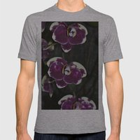 Purple Orchids Mens Fitted Tee Athletic Grey SMALL