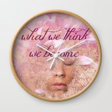 What we think, We become Wall Clock