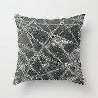 Sparkle Net Black Throw Pillow