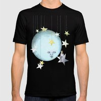 Hanging With The Stars Mens Fitted Tee Black SMALL