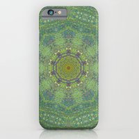 iPhone & iPod Case featuring liquid green mandala? by Pink grapes