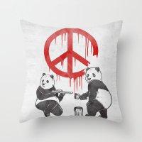 Pandalism V2 Throw Pillow