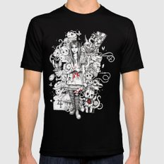 wonderland shattered SMALL Mens Fitted Tee Black