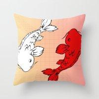 Dub Koi! Throw Pillow