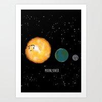 Moonzoned Art Print