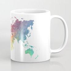 Map of the world colored Mug