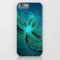 iPhone Cases featuring Blue Fantasy by gabiw Art