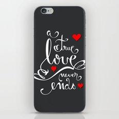 Valentine Love Calligraphy and Hearts V2 iPhone & iPod Skin