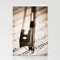 Violin Bow Stationery Cards