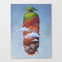 Island In The Sky Canvas Print
