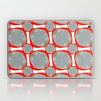 Red Organic Rings Laptop & iPad Skin