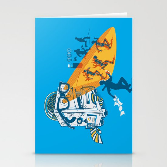 Bad Day At The Office Stationery Card