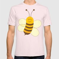 Cute Baby Bee Mens Fitted Tee Light Pink SMALL