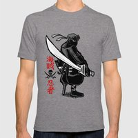 Debate Over: Pirates vs. Ninjas Mens Fitted Tee Tri-Grey SMALL