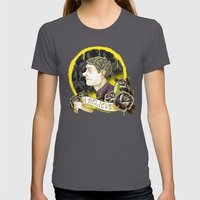 Believe In Sherlock Holm… Womens Fitted Tee Asphalt SMALL