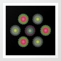 Transparent Floral Patte… Art Print
