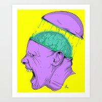 Brain Stain Art Print