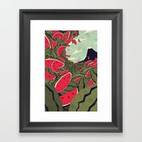 Watermelon Surf Dream Framed Art Print