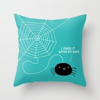 Spiders Have all the Fun Throw Pillow