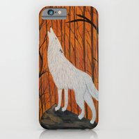 white wolf in the sunset iPhone 6 Slim Case