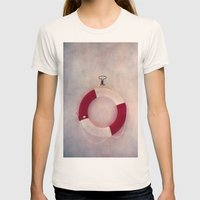 Help Me! Womens Fitted Tee Natural SMALL
