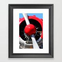 Red Plane II Framed Art Print