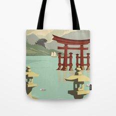 Kaiju Travel Poster Tote Bag