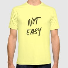 Not Easy Mens Fitted Tee Lemon SMALL