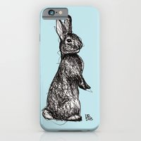iPhone & iPod Case featuring Blue Woodland Creatures - Rabbit by Ursula Rodgers
