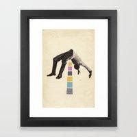 High Jump Framed Art Print