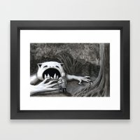 Monster in the Woods Framed Art Print