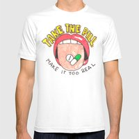 Take a Pill Mens Fitted Tee White SMALL