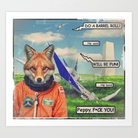 Starfox - F*CK YOU PEPPY… Art Print