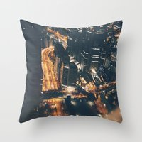 Streamed Throw Pillow
