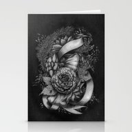 Peony And Succulents Stationery Cards