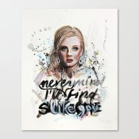 Adele - Nevermind/I'll N… Canvas Print