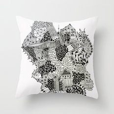 Crystalised Throw Pillow